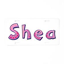 Shea Pink Giraffe Aluminum License Plate