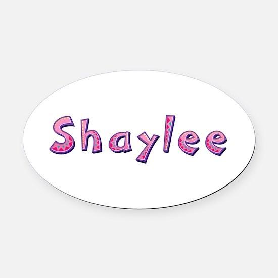 Shaylee Pink Giraffe Oval Car Magnet