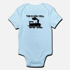 This Is How I Roll Train Onesie