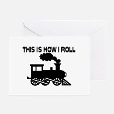 This Is How I Roll Train Greeting Cards (Pk of 20)