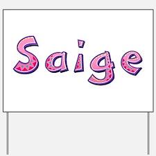Saige Pink Giraffe Yard Sign