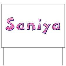 Saniya Pink Giraffe Yard Sign