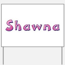 Shawna Pink Giraffe Yard Sign