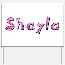 Shayla Pink Giraffe Yard Sign