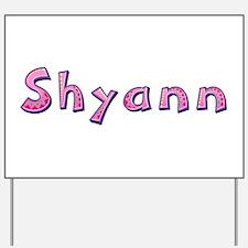 Shyann Pink Giraffe Yard Sign
