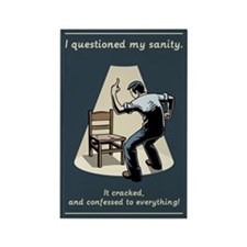Questioned My Sanity Rectangle Magnet