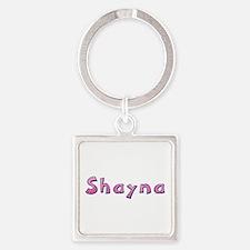 Shayna Pink Giraffe Square Keychain