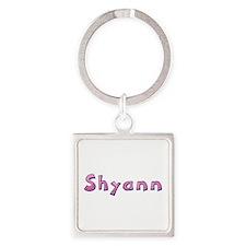 Shyann Pink Giraffe Square Keychain