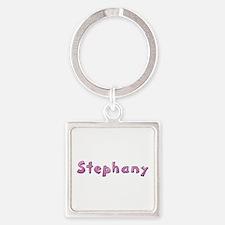 Stephany Pink Giraffe Square Keychain