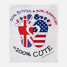 British American Baby Throw Blanket