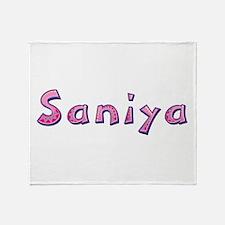 Saniya Pink Giraffe Throw Blanket