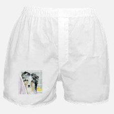 Blue Merle Sheltie Bath Boxer Shorts