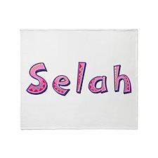 Selah Pink Giraffe Throw Blanket