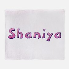 Shaniya Pink Giraffe Throw Blanket