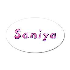 Saniya Pink Giraffe Wall Decal