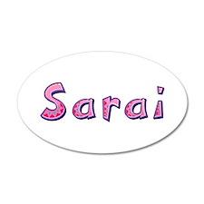 Sarai Pink Giraffe Wall Decal