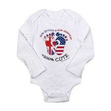 British American Baby Long Sleeve Infant Bodysuit
