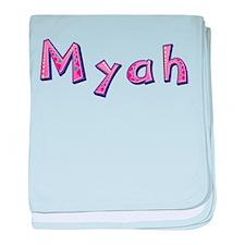 Myah Pink Giraffe baby blanket