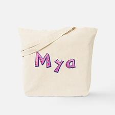 Mya Pink Giraffe Tote Bag