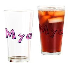 Mya Pink Giraffe Drinking Glass