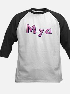 Mya Pink Giraffe Baseball Jersey