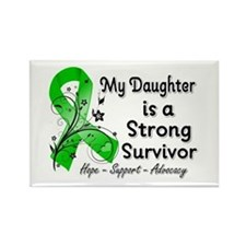 Daughter Strong Survivor Rectangle Magnet