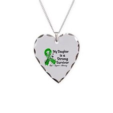 Daughter Strong Survivor Necklace Heart Charm