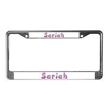 Sariah Pink Giraffe License Plate Frame