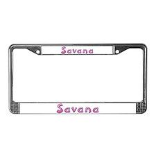 Savana Pink Giraffe License Plate Frame