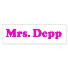 Mrs. Depp Bumper Bumper Sticker