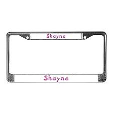 Shayna Pink Giraffe License Plate Frame