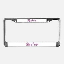 Skylar Pink Giraffe License Plate Frame