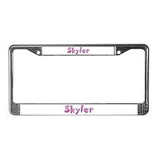 Skyler Pink Giraffe License Plate Frame