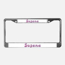 Susana Pink Giraffe License Plate Frame