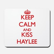 Keep Calm and Kiss Haylee Mousepad