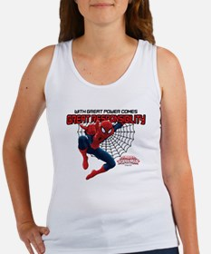 Spiderman: With Great Power Women's Tank Top