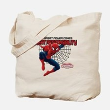 Spiderman: With Great Power Tote Bag