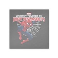 "Spiderman: With Great Power Square Sticker 3"" x 3"""