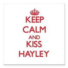 """Keep Calm and Kiss Hayley Square Car Magnet 3"""" x 3"""