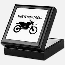 This Is How I Roll Dirt Bike Keepsake Box