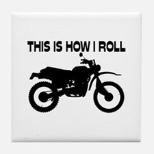 This Is How I Roll Dirt Bike Tile Coaster