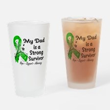 Dad Strong Survivor Drinking Glass