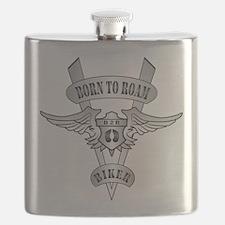 Chromed Winged V Flask