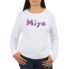 Miya Pink Giraffe Long Sleeve T-Shirt