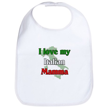 I Love My Italian Mamma Bib