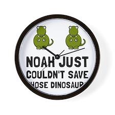 Noah Dinosaurs Wall Clock