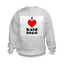 I Love Bald Men Kids Sweatshirt