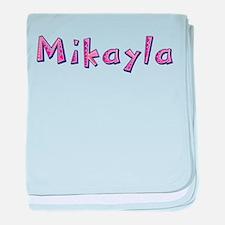 Mikayla Pink Giraffe baby blanket