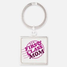 First Class Mom Keychains