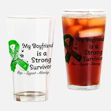 Boyfriend Strong Survivor Drinking Glass